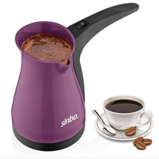 Sinbo Turkish Coffee Kettle - 5 Cups- Purple