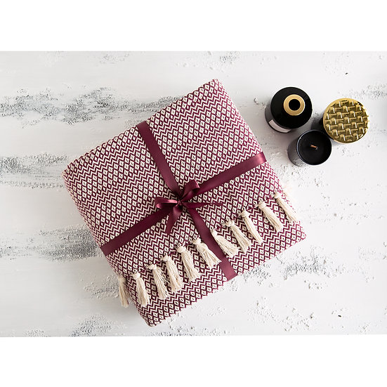 Karaca Home Coverlet Dark Red