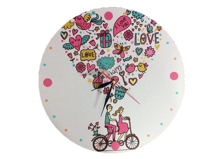 Heart Balloon Wall Clock for Kids