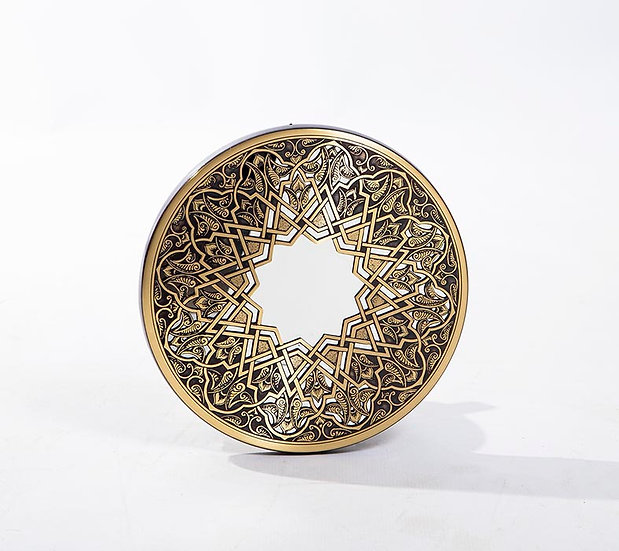 Arabesque Brass Mirror 30cm