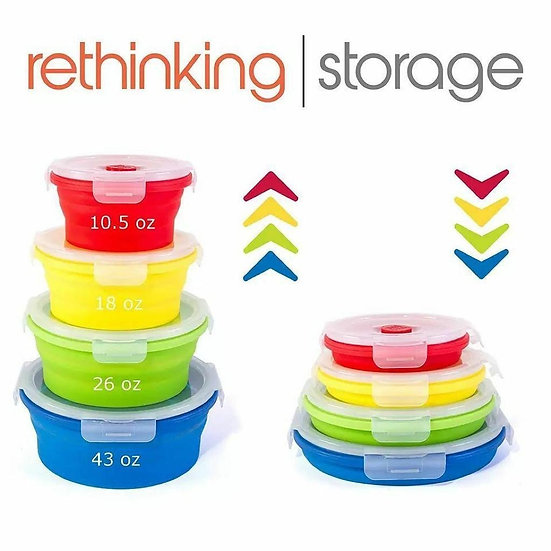 Round Silicone Lunch Box