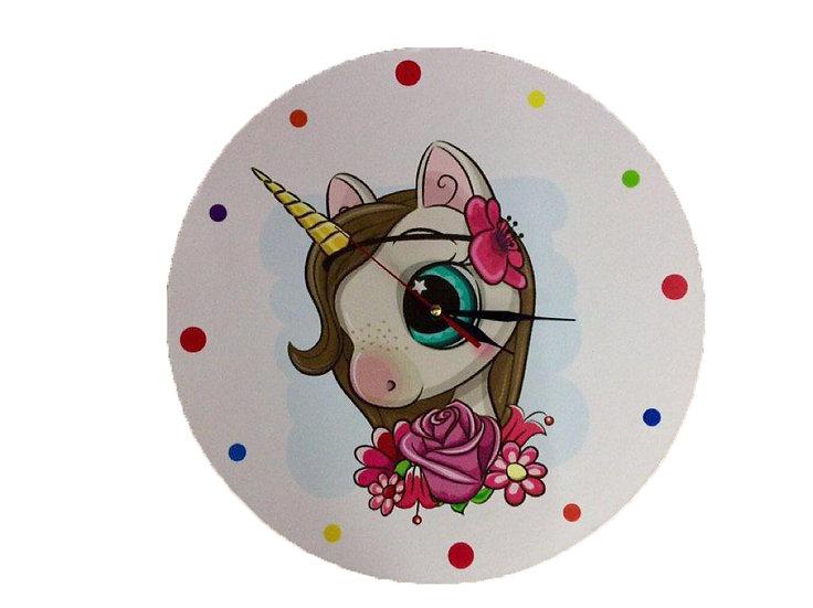 Cute Unicorn Wall Clock for Kids