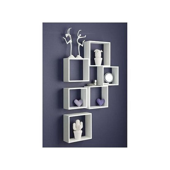 Modern Decor Shelf. White - 6 Pcs