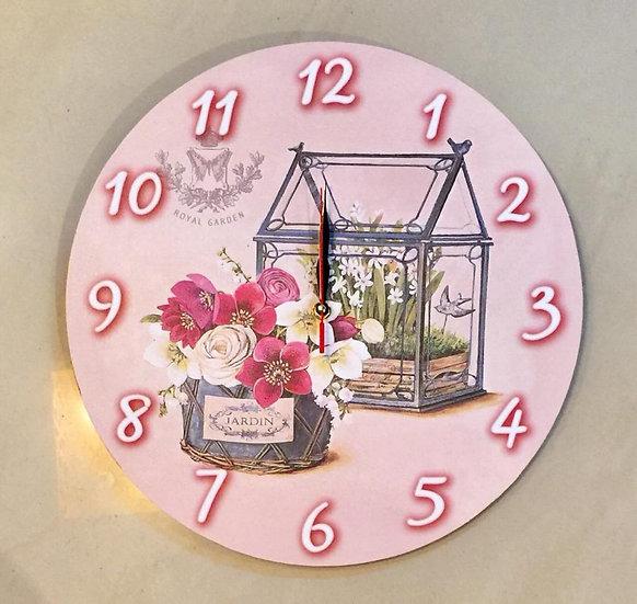 flower kiosk Wall Clock