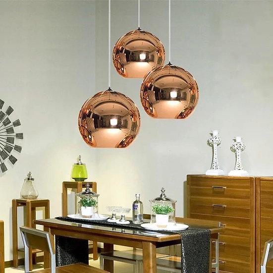 Circular Glass Pendant light 25 cm