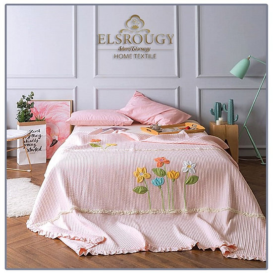 Softness El Srougy Home Textile Coverlet bed set 3pcs