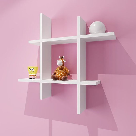 Modern Decor Shelf #Square WHITE