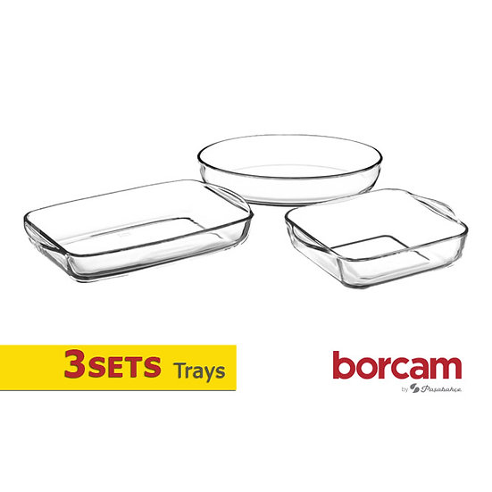 3 Sets Glass Tray