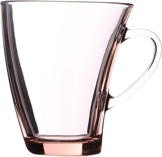 Pasabahce Set Of 6 Pieces Penguin Coffee Mugs - Pink Clear