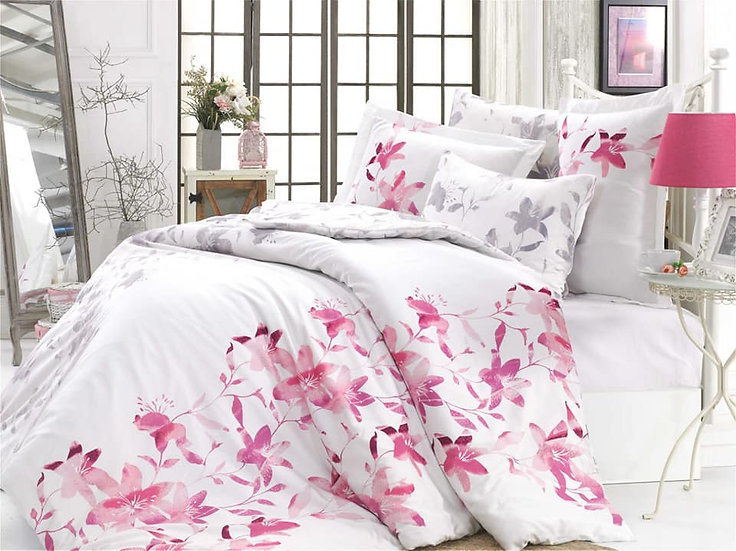 Lucia Fuchsia Double Bed 6pcs bed sheet set