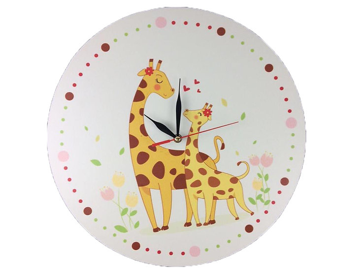 Giraffe Wall Clock for Kids
