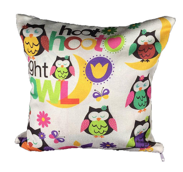 Hoot Owl cushion cover Cotton Linen Square Cushion Covers