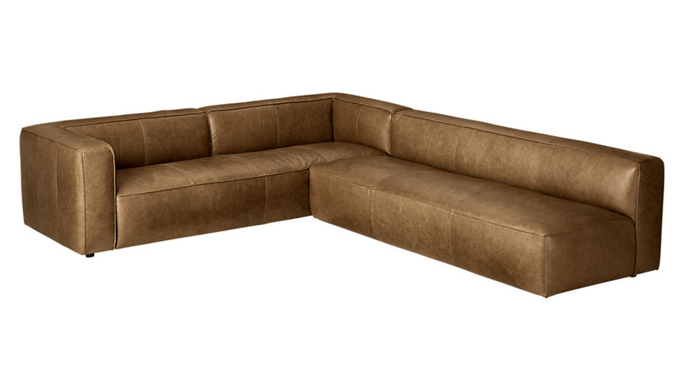 SECTIONAL 2-PIECE  Leather Sofa