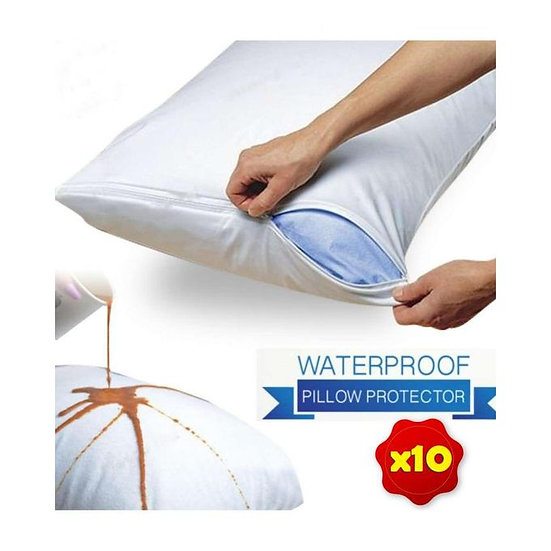 Ficomed Pillow Cover - White - 10 PCs