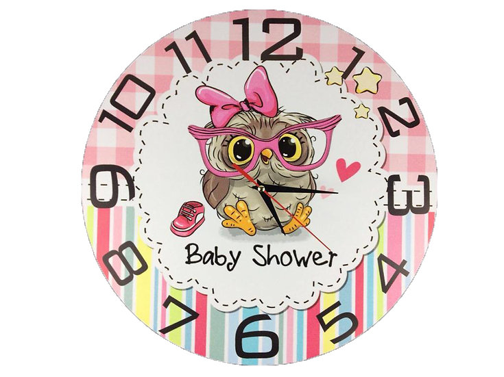Baby Shower Wall Clock for Kids Room