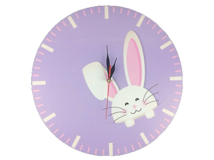 Rabbit Wall Clock for Kids