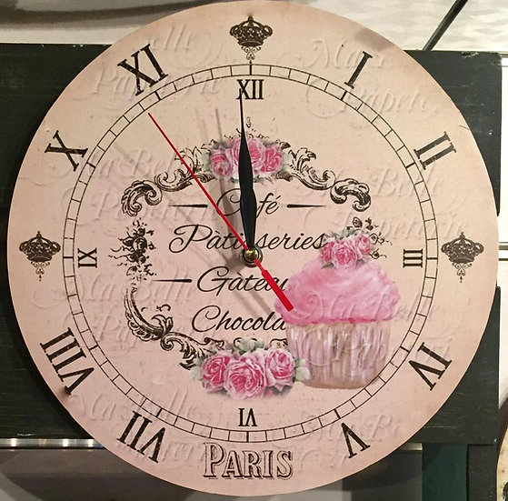 Paris Coffe Wall Clock