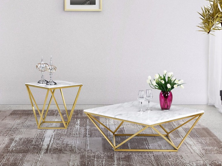 Geometric table center & Side 2set