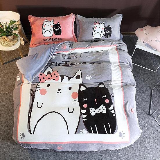 Best Friends Kids Room Quilt Velvet Bedding