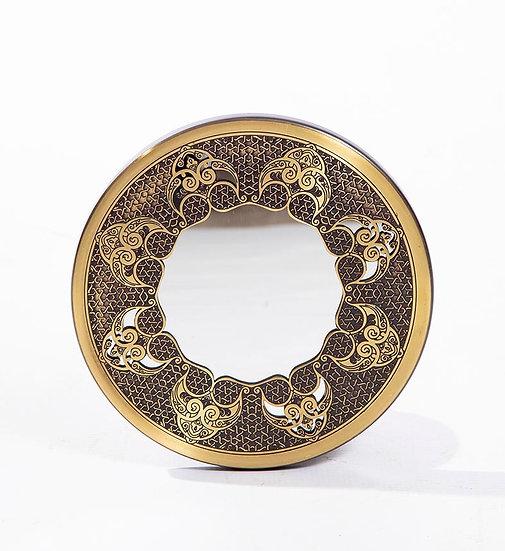 Brass Mirror 30cm