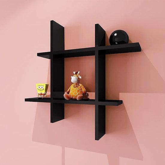 Modern Decor Shelf #Square BLACK