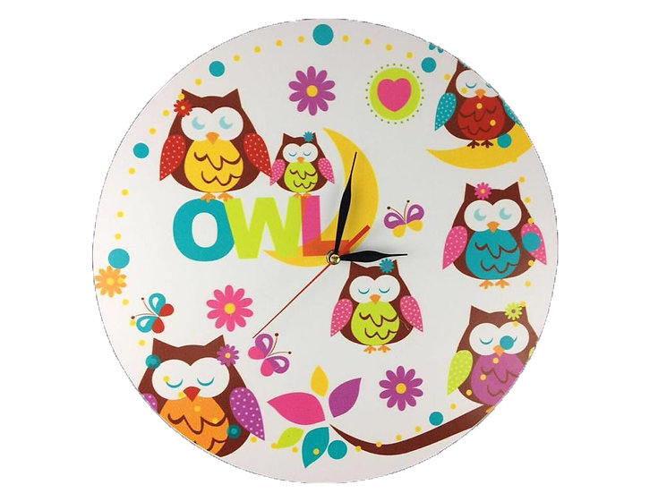 Hoot Owl Wall Clock for Kids