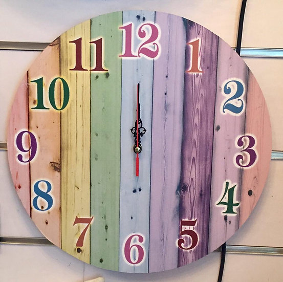 Color wood Wall Clock