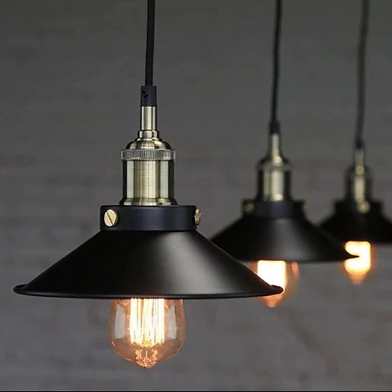 Steel Edison Pendant Lamp 1-light