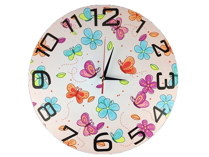 Colorful butterfly Wall Clock for Kids
