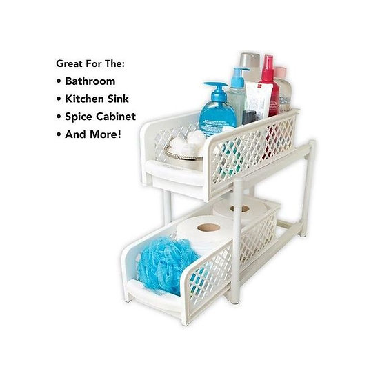 Generic Portable 2 Tier Storage Basket Drawers