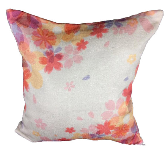 Color Flower cushion cover Cotton Linen Square Cushion Covers