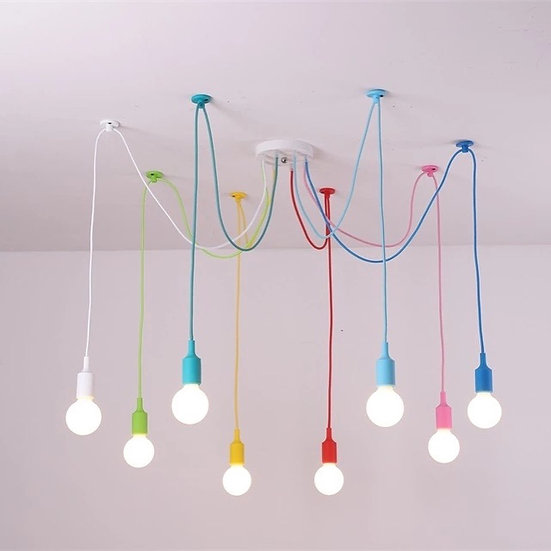Colorful Spider chandelier