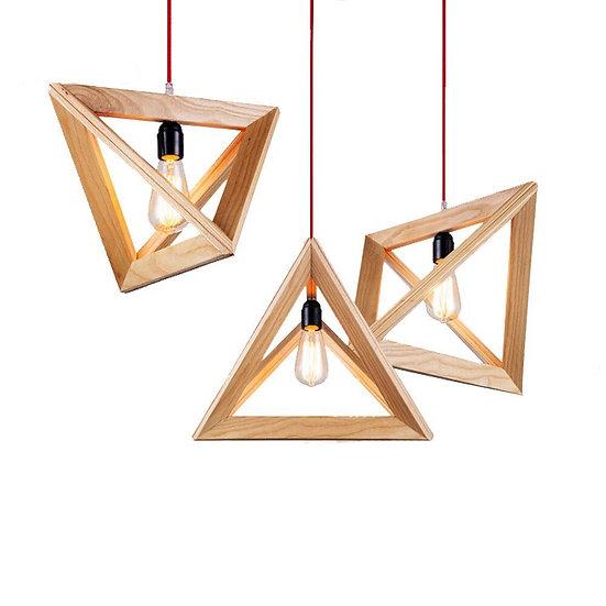 1 piece Angle Wood Pendant Light