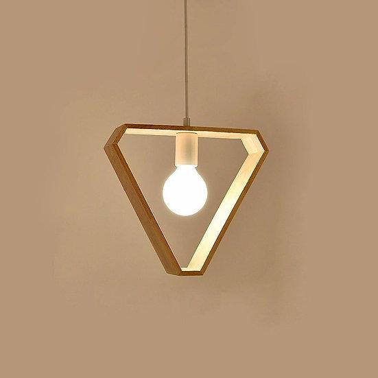 Nordic Wood Pendant Light-Triangle