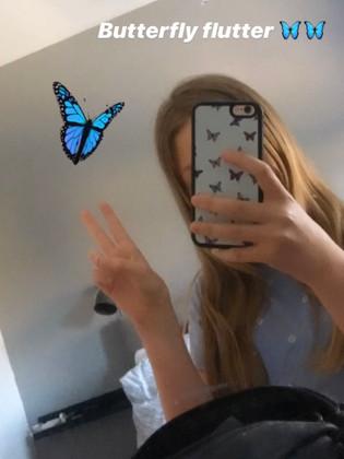 Rainbow butterfly flutter