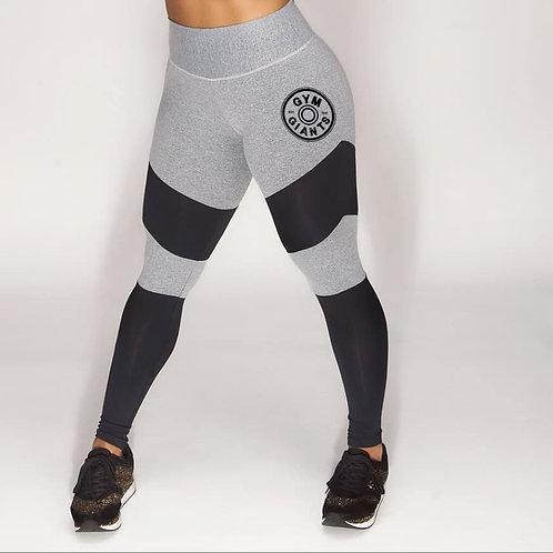 Grey Leggings With Black Stripe
