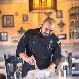 Pascal Split Chef Coat in Black