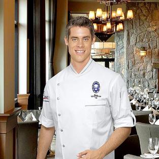 Pascal Split Chef Coat in White