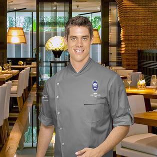 Pascal Split Chef Coat in Grey