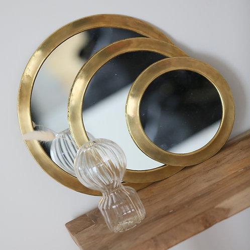 Miroir rond laiton - 3 tailles