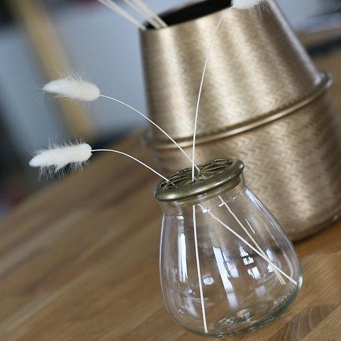 Vase couvercle laiton ajouré