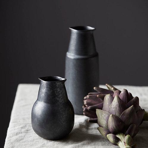 """Pichet / Vase noir """"Pion"""" - 2 tailles"""