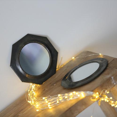 Petit miroir rond ou octogone