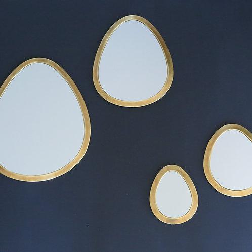 Miroir amande doré - 4 tailles