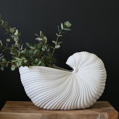 Vase coquillage en grès