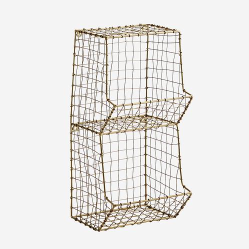 Étagère fil de fer 2 casiers