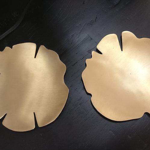 Duo de coupelles en laiton doré