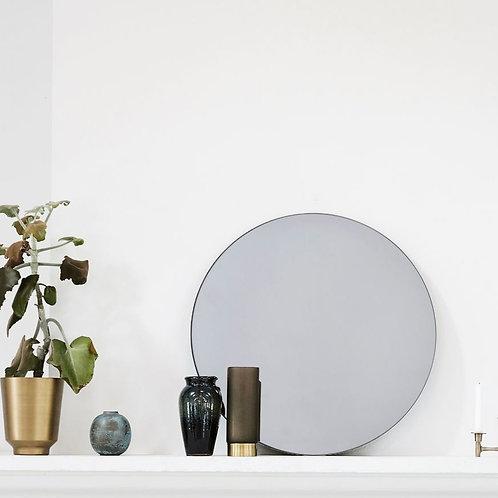 Miroir rond gris fumé