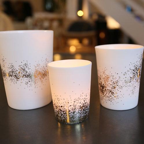 Photophore porcelaine - 3 tailles