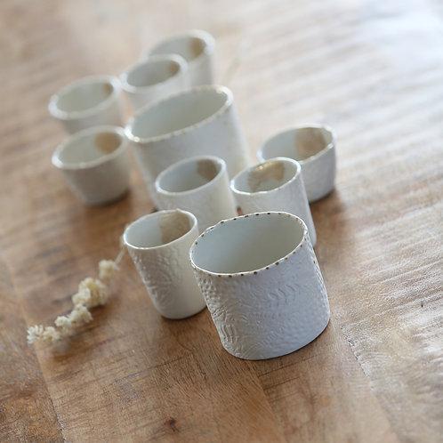 Pot en porcelaine Myriam Aït Amar - 3 modèles